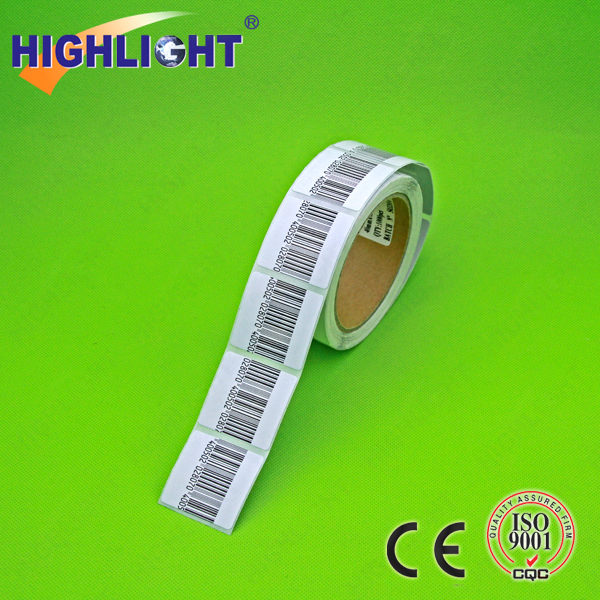 Highlight RL044S RF 8.2mhz alarm system security barcode square shape 4x4cm eas adhesive label