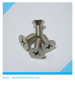 cross recessed flat head titanium bolt m3 m5 m6