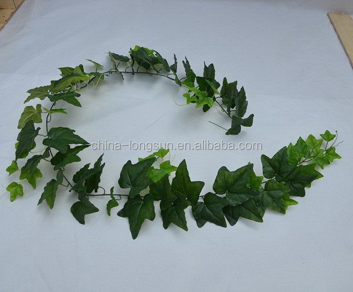 LS16070406 wholesale artificial plant manufacturer make green fabric silk artificial ivy garland