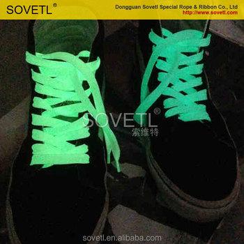 2d225ebe4a5f Sports Sneaker 47 quot  120cm Fluorescent Luminous Shoelace Glow In The  Dark Flat Shoe Laces