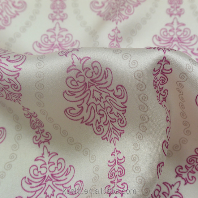 Hangzhou factory direct printed 100% silk duchess satin