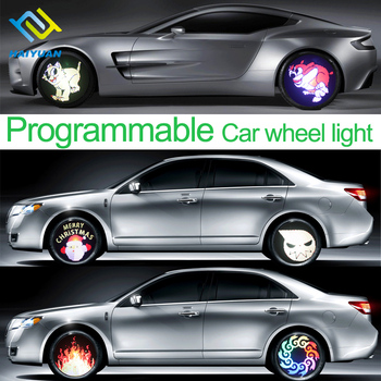 Water-proof led programmable car wheel rim light