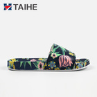 Summer beautiful lady slipper custom print slide sandals