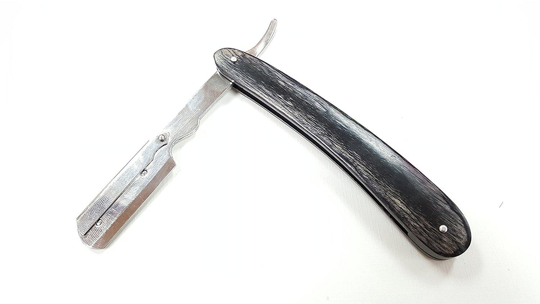 Wooden Straight Razor Black Barbering Razor Cutthroat Razor Shaving Derby Dorco Feather Shaving