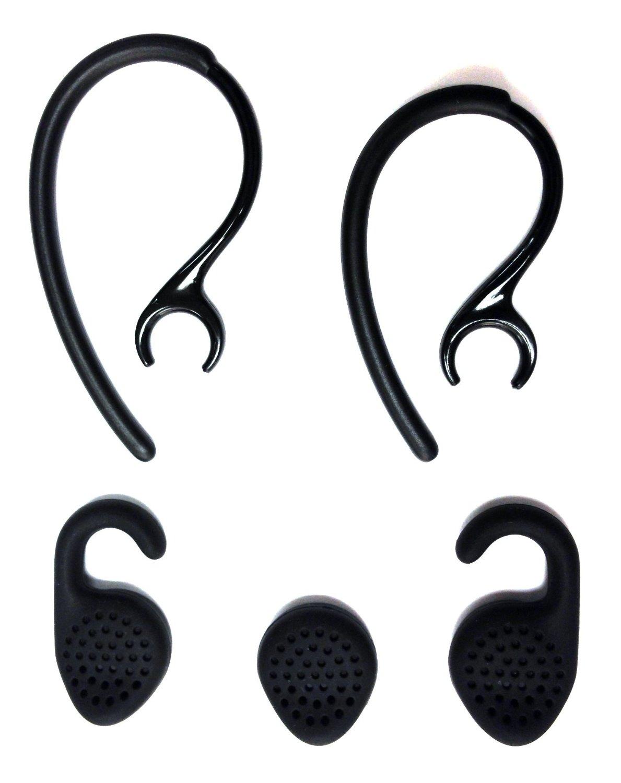 Set OEM EarGels EarHooks for Jabra Extreme & Jabra Extreme2 Bluetooth Headset Ear Hooks Ear Loops Earhooks Earloops Earclips Ear Buds Ear Gels Stabilizers Eargels Earbuds Eartips Earstabilizers Replacement