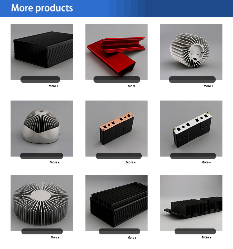 aluminum extrusion led anodized oxidation heat sink