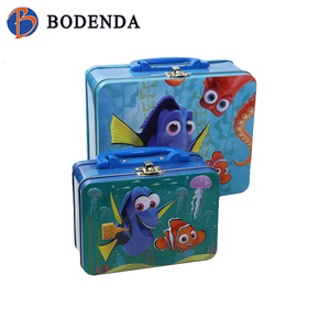kids tin lunch box/lunch box tin with handle/anime bento boxes