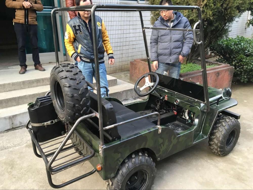 China Hotselling 110cc 125cc 150cc Mini Jeep With Roof Frame Tkg110