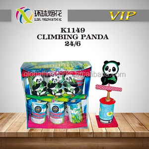 K1149 CLIMBING PANDA SAFE HIGH QUALITY CHEAP OUTDOOR KIDS TOYS LIUYANG WHOLESALE 1.4G UN0336 FIREWORKS FUEGOS ARTIFICIALES