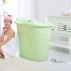 New products on china market PP5 material bathtubs round bathtub portable tub soak bath