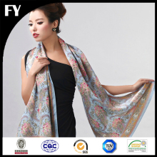 Custom digital printed wholesale screen silk scarf
