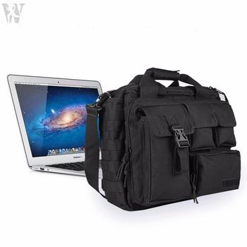 77217f8932 Multifunctional Nylon Mens Briefcase Laptop Shoulder Bag Tactical Messenger  Bag