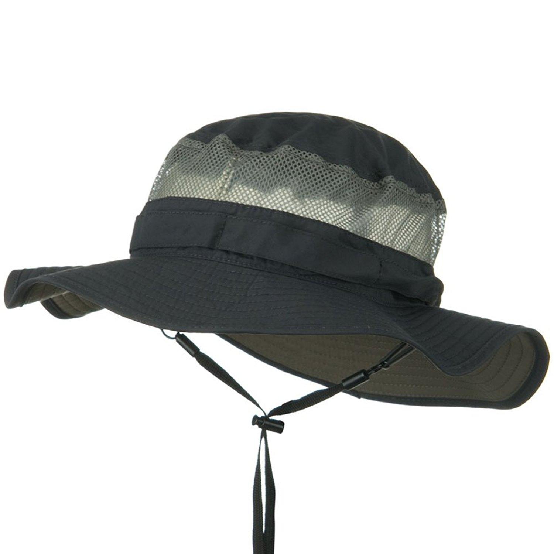a9c13e5131260 Get Quotations · Juniper UV 50+ Side Mesh Talson Bucket Hat - Charcoal
