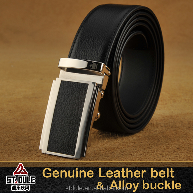 business casual man leather <strong>belts</strong> with 32mm automatic zinc alloy buckle