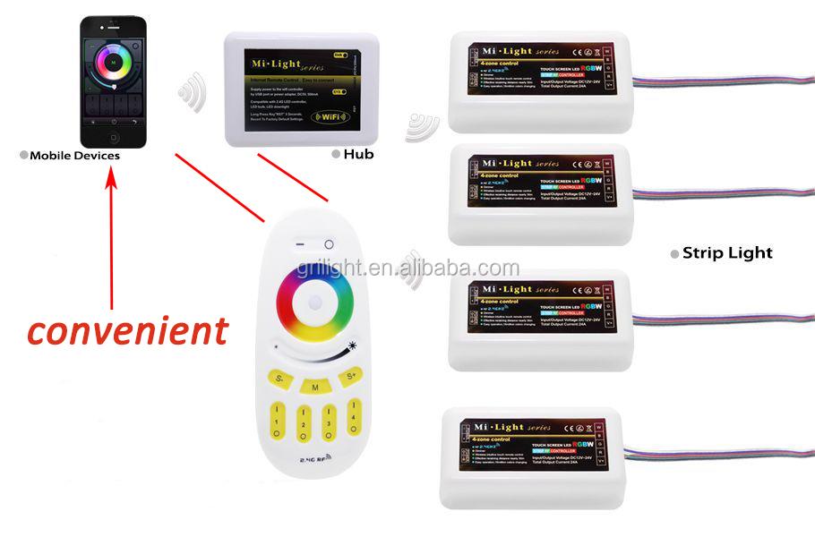 Milight Mi Light Dmx Cct Rgbw Rgb Led Wifi Controller For