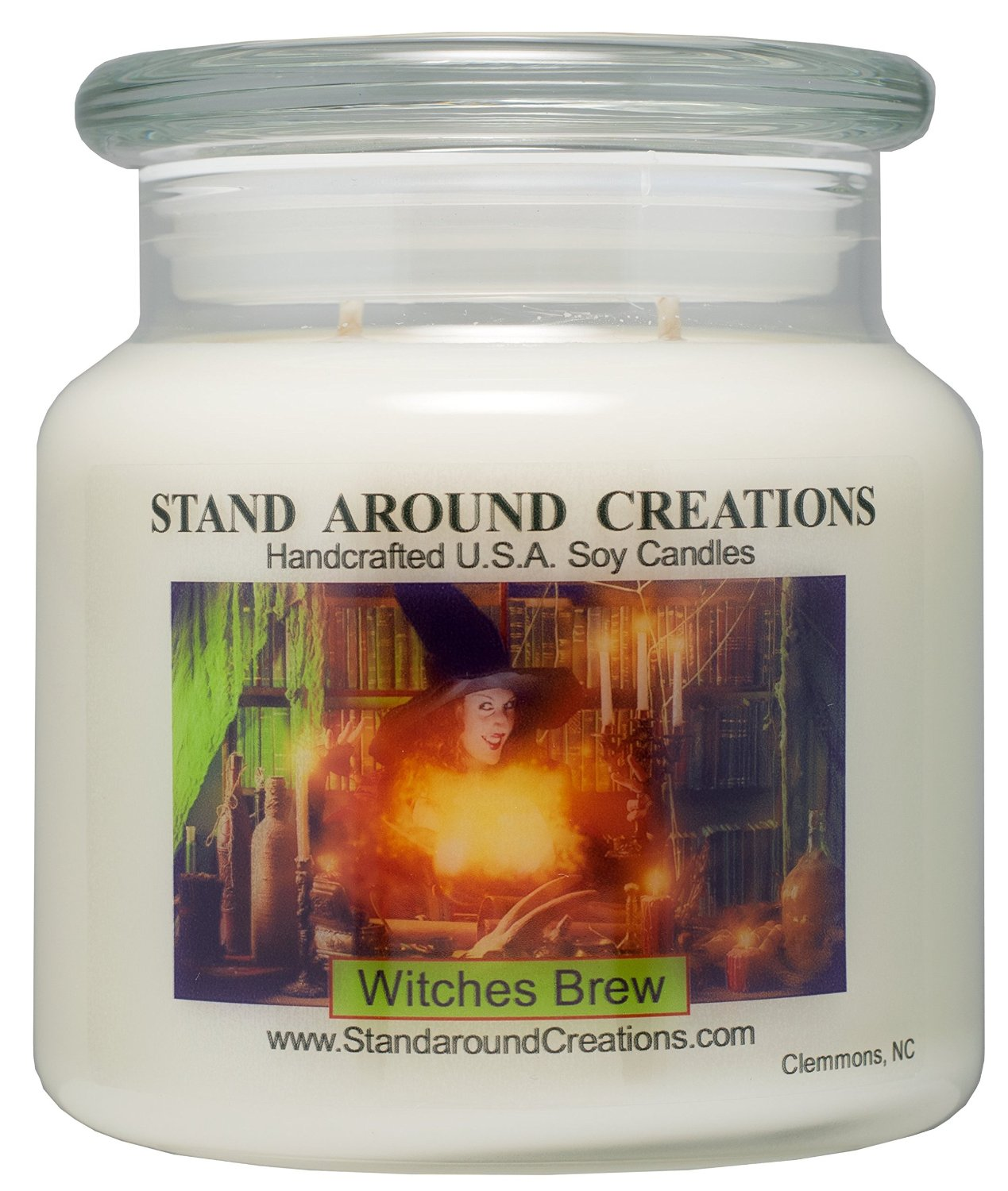 Premium 100% Soy Apothecary Candle - 16 oz.- Witches Brew - A celebration of patchouli, cinnamon and cedarwood.