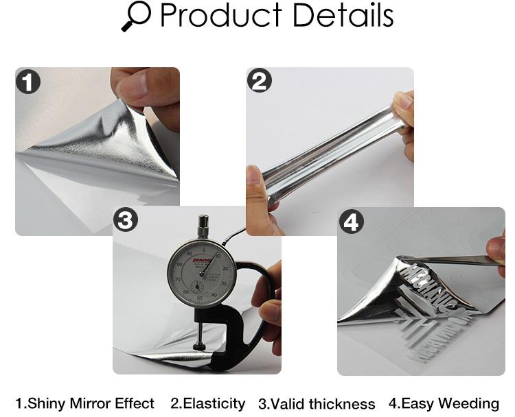 ¡Venta al por mayor! vinilo de transferencia de calor de lámina flexible metálico dorado metálico para ropa de QingYi