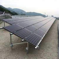 Customized solar panel mounting Solar PV Ground mounting system with C steel pile solar screw