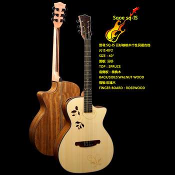 Sqoe 40 Inches Characteristic Stage Series Acoustic Guitar Sq Is