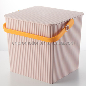 Pink Plastic Bucket Cube Square plastic See through snacks bucket