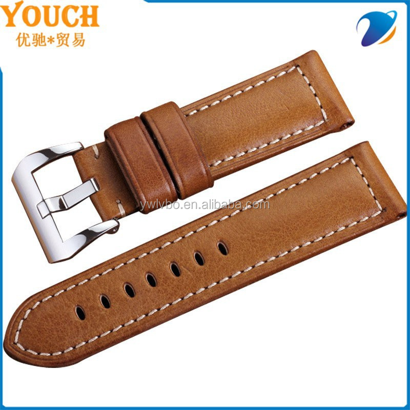 2015 Factory direct supply watch band Retro leather watch strap spain style leather bracelet watch bracelet 24mm
