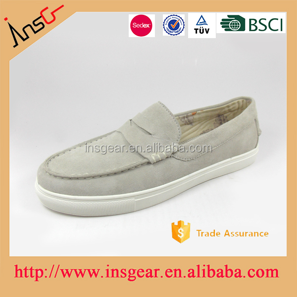 best selling suede material and rubber outsole work and casual shoes in shoes store