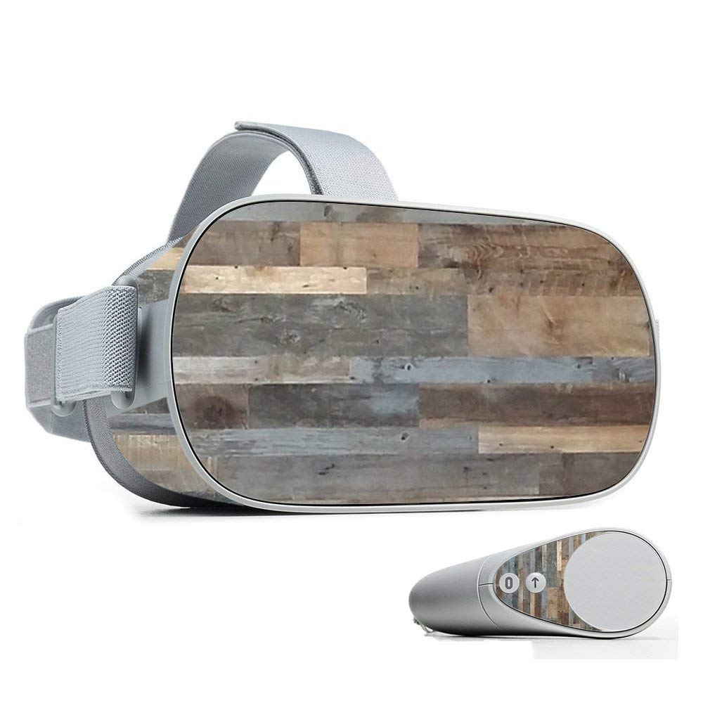 MightySkins Skin for Oculus Go Mobile VR - Gray Wood | Protective, Durable, and Unique Vinyl Decal wrap Cover | Easy to Apply, Remove, and Change Styles | Made in The USA