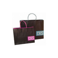 High Quality Wholesale Custom Cheap paper kraft bag carrier bags with ribbon