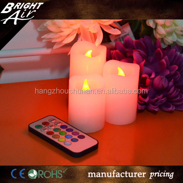 Beauty Color Remote Control Led Candle with Candle Box