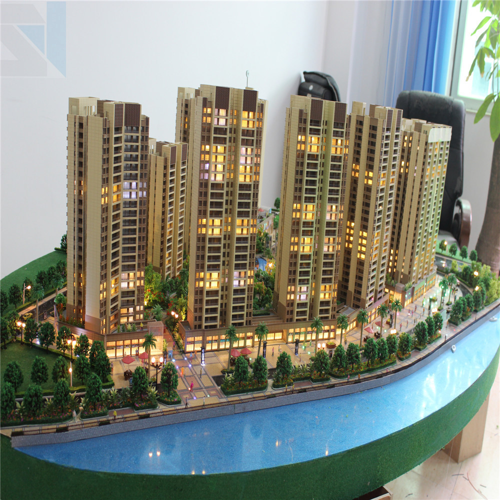 Commercial miniature building model maker 3d models famous for 3d building creator