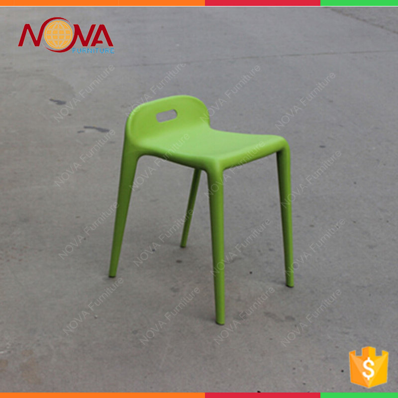 Simple design best quality colorful stackable short back ABS armless home used leisure chairs
