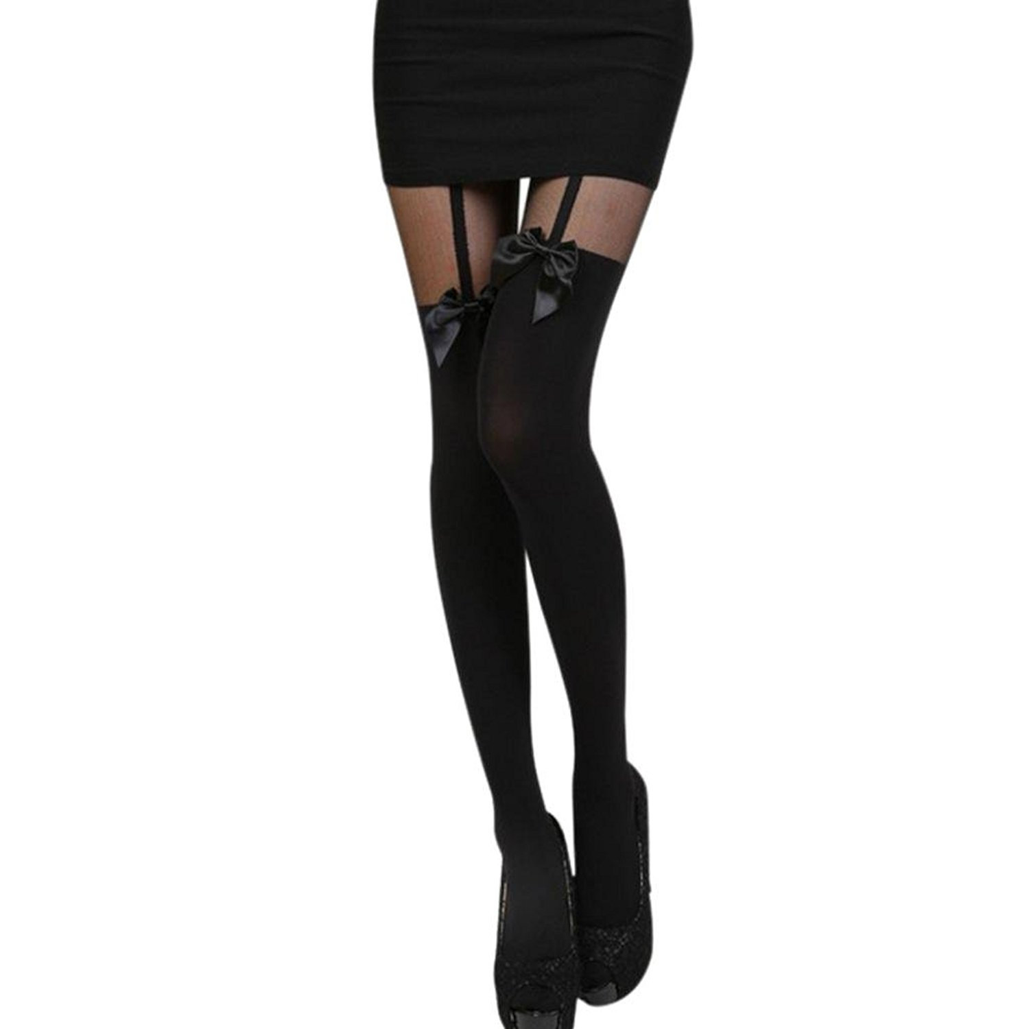 16f2cb276cc Get Quotations · Qisc Vintage Tights Pantyhose