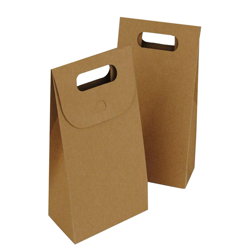 Chinese supplier flat bottom kraft paper ldpe pizza bag for sale