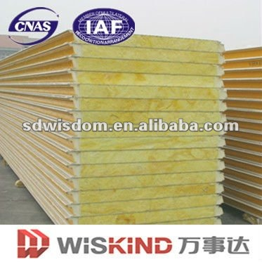 Fireproofing Glass Wool Sandwich Wall Panels