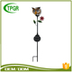 Interior Decoration Metal Craft Owl Outdoor Solar Stake Light For Festival