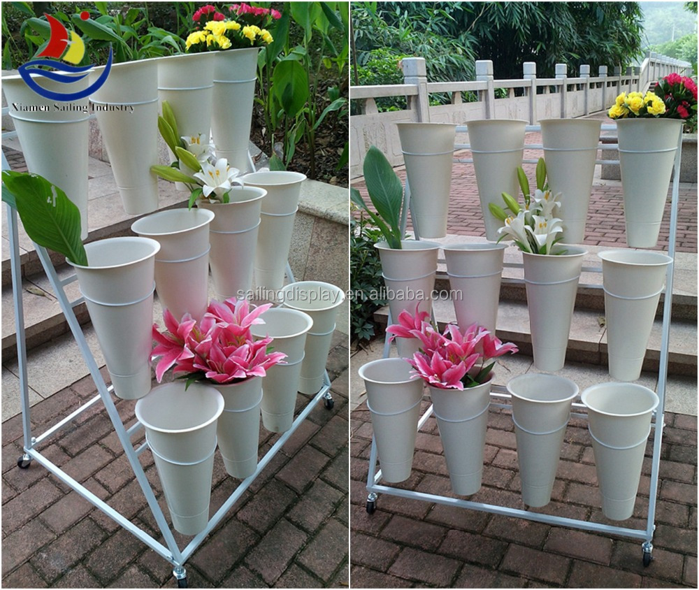 2015 Metal Flower Display Stand For Florist Flower Stand