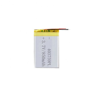 rechargeable lithium polymer 3.7v 850mah 403759 lipo battery