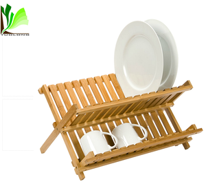 Versatility Natural Kitchen Decoration Bamboo Dish Rack