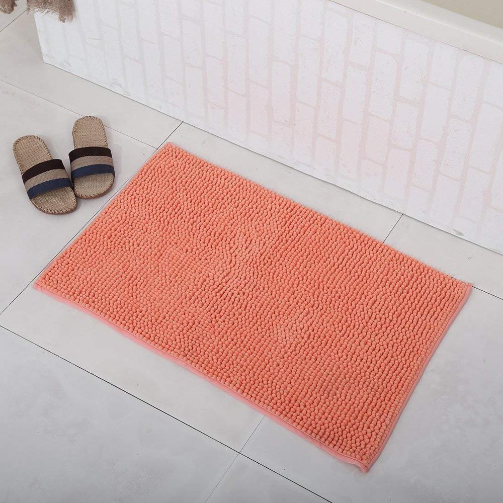 Alfombra de baño set 2 piezas de chenilla de microfibra de púrpura baño alfombras