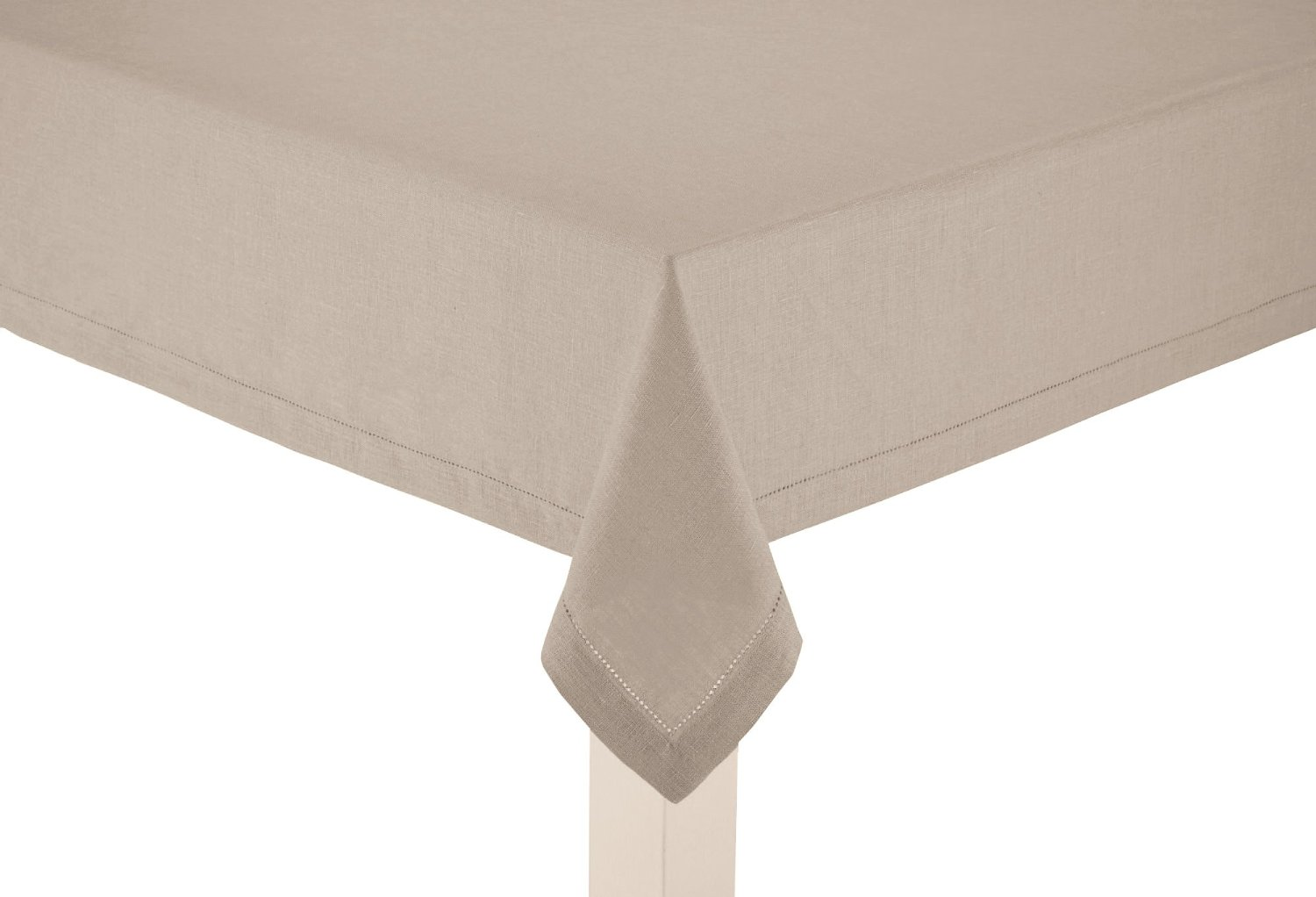 100% Linen Hemstitch Table Cloth - Size 60x120 Natural - Hand Crafted and Hand Stitched Napkins with Hemstitch detailing. The pure Linen fabric works well in both casual and formal settings
