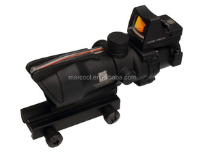 ACOG GL 4x32 Scope In Black with Red Fiber Optics & light-operated