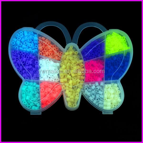 Butterfly Shape Box 13 Colors Packing Educcational Diy Perler Beads Mini  Sizes - Buy Perler Beads Mini,Diy Perler Beads,Mini Perler Beads Product on