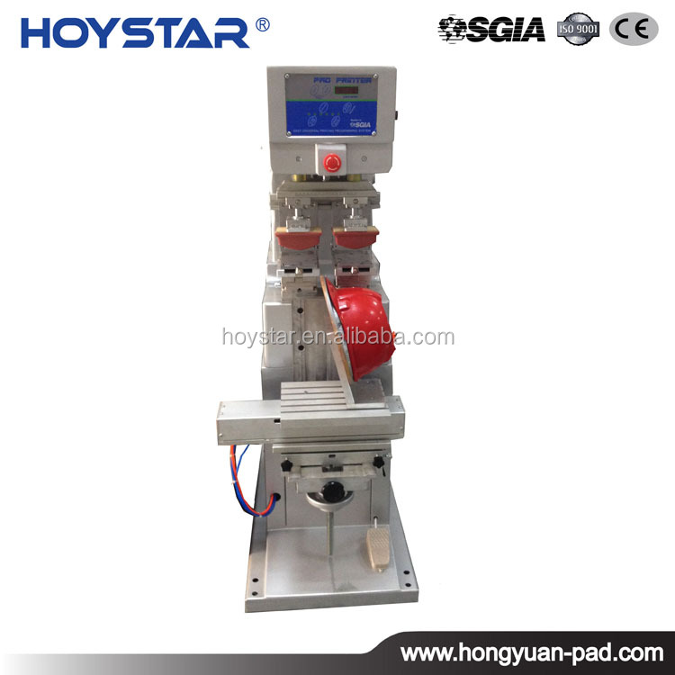 2 Color Tampon Print Machine For Safety Helmet Printing Machine