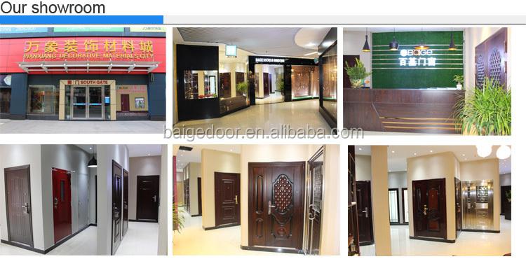 Bg s9009 steel decorative flat exterior door safety door for Decorative main door designs