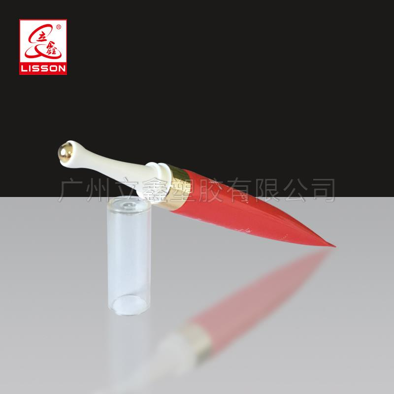 Cosmetic laminated aluminum Plastic Tube Package with roller for Eye Cream Eye serum wholesale custom eyelash packaging