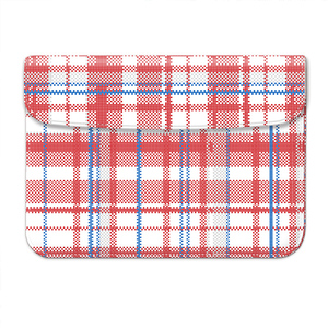 checks&plaid weekender laptop sleeve bag for 12inch 13inchpro a1534/1369/1466 macbook computer protective case