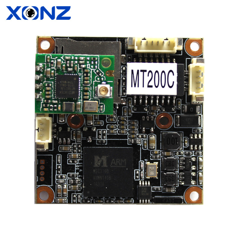 H.265 CMOS IP PCB board 2mp 1080P 1/3 CMOS DWDR ONVIF OEM ip camera usb wifi module