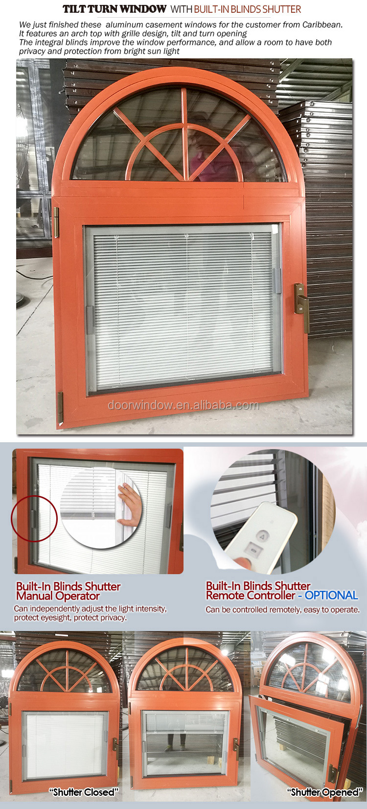 Professional double glass wood aluminum window double glass with blinds inside double glass window with blinds