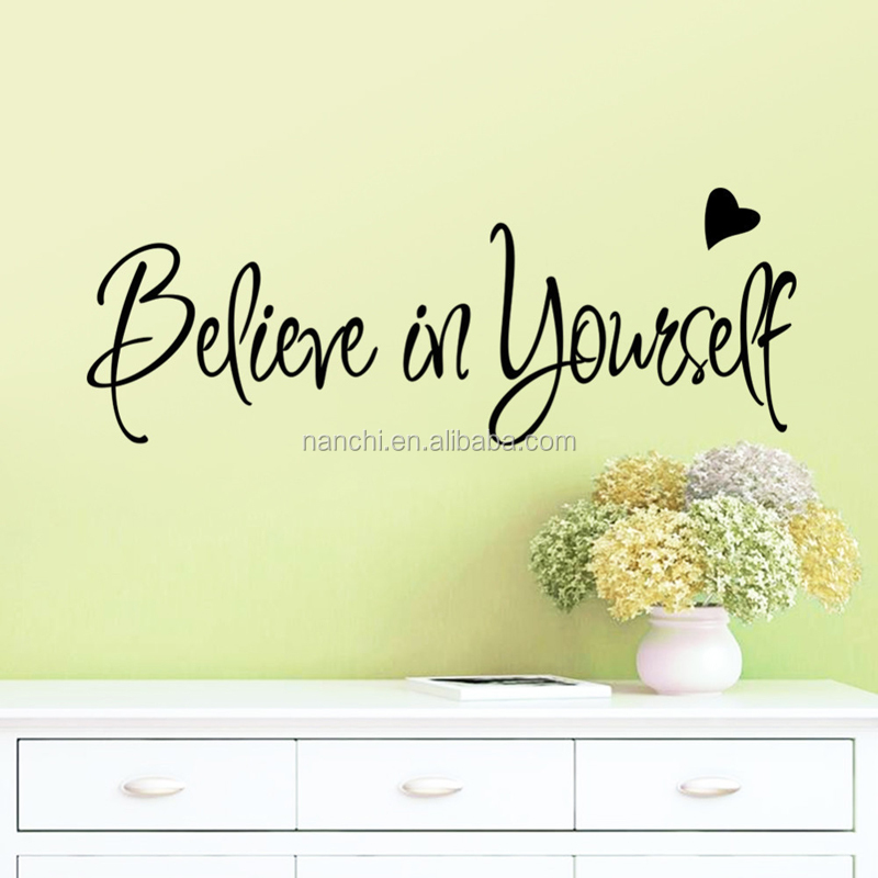 Believe in yourself Office inspirational wall stickers art home decorative waterproof removable stickers for wall