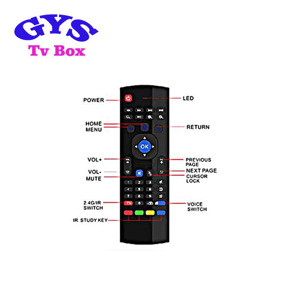 MX3 2.4GHz Air Mouse Wireless Keyboard Remote Voice Control For TV BOX PC MZUS